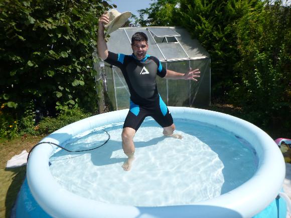 Bazén byl jen můj